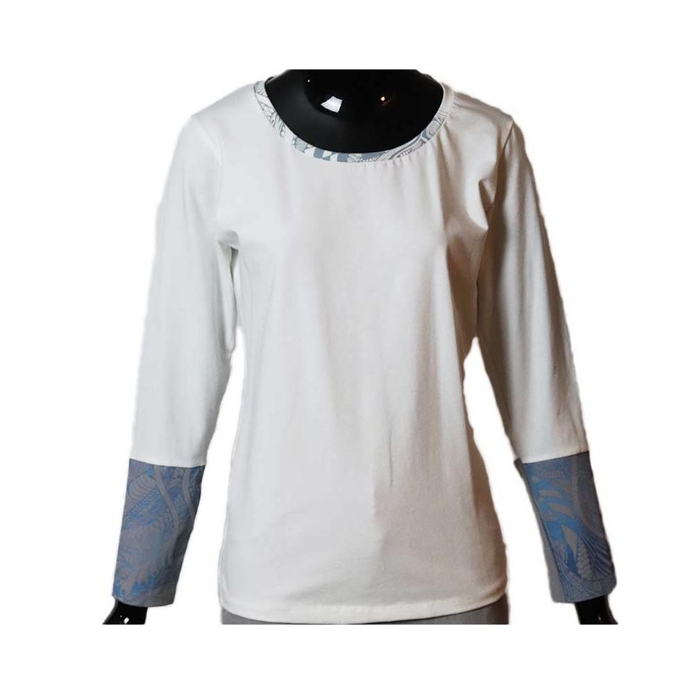 Fair produziert|Designshirt|Unikat|Damen|Bio|weiss|M|ID301