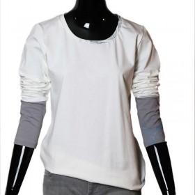 Unikatshirt|angenehm|weiss|Siebdruck|organisch|L|ID303