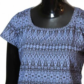 T-Shirt-genäht-gemustert-Unikat