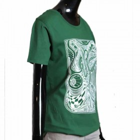 tshirt-Print-dunkelgrün-Siebdruck