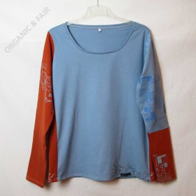 Bio Langarmshirt HALONA no.8 in XL