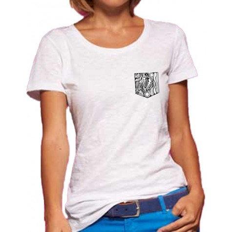 NEW!! Light t-shirt with embroidered front pocket
