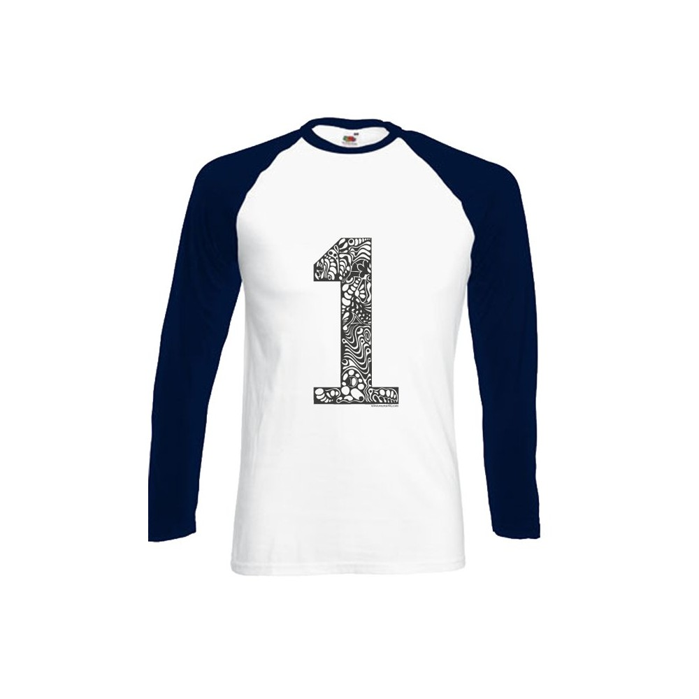 T-Shirts langarm Herren Langarmshirt - 1er in L