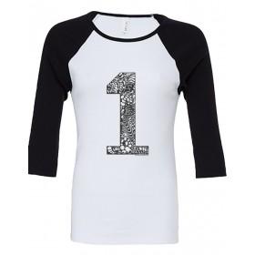 T-Shirts & Sweatshirts Damen Raglanshirt 3/4 Ärmel - 1er