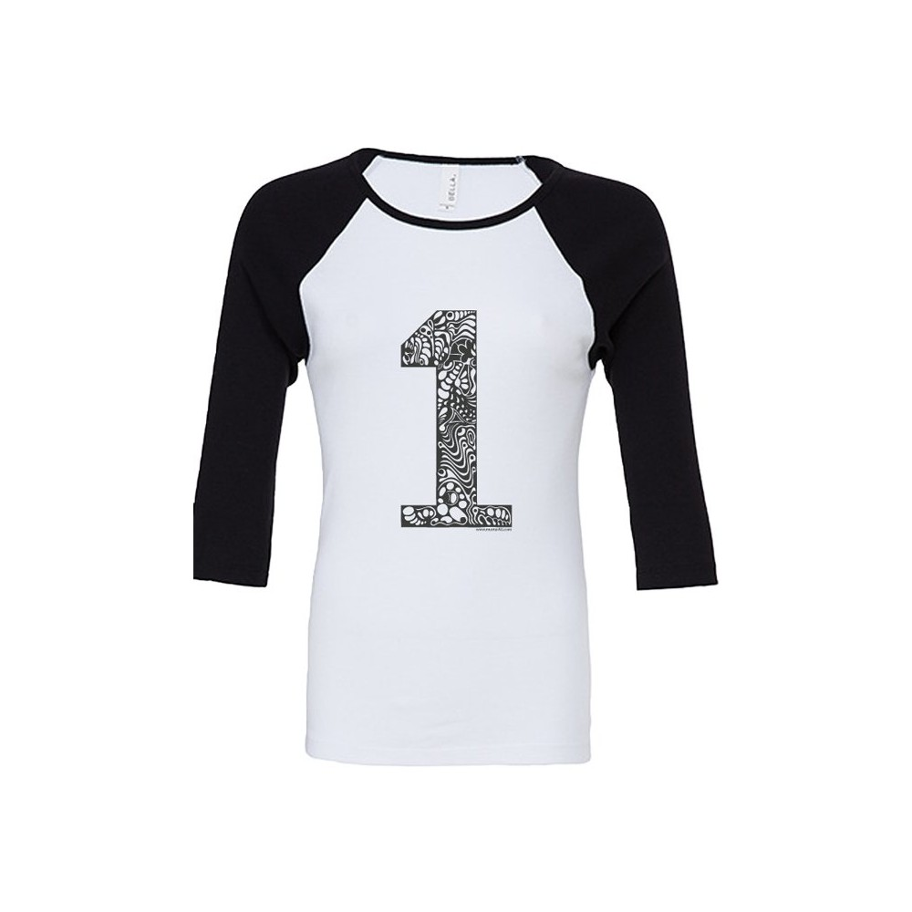 T-Shirts & Sweatshirts NEU!!! Damen Raglanshirt 3/4 Ärmel - 1er