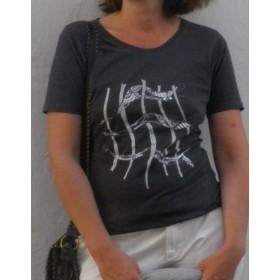 """Damen Elegantes Wohlfühlshirt mit """"Gitter"""" in grau"""