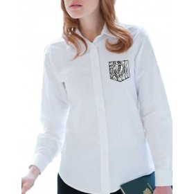 black & white Ladies blouse with embroider