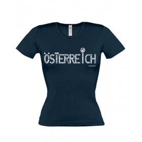 """Österreich-Motive Damen T-Shirt """"Österreich"""" ...in 3 Farben"""