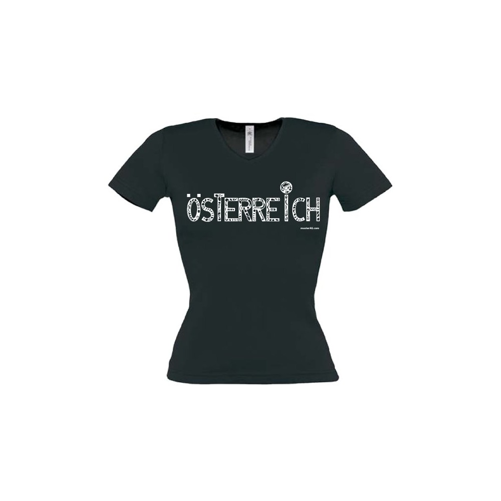 "Themes of Austria Lady's T-Shirt ""Austria"" ...in 3 colours"