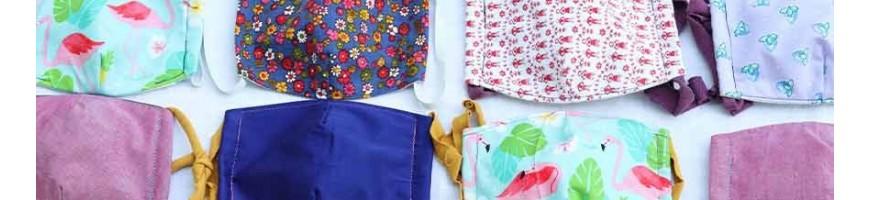 Colorful sewn Upcycling masks